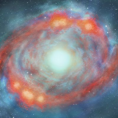 Artist's Rendition of the two spiral arm model of our CMZ, credit Francesca Holland